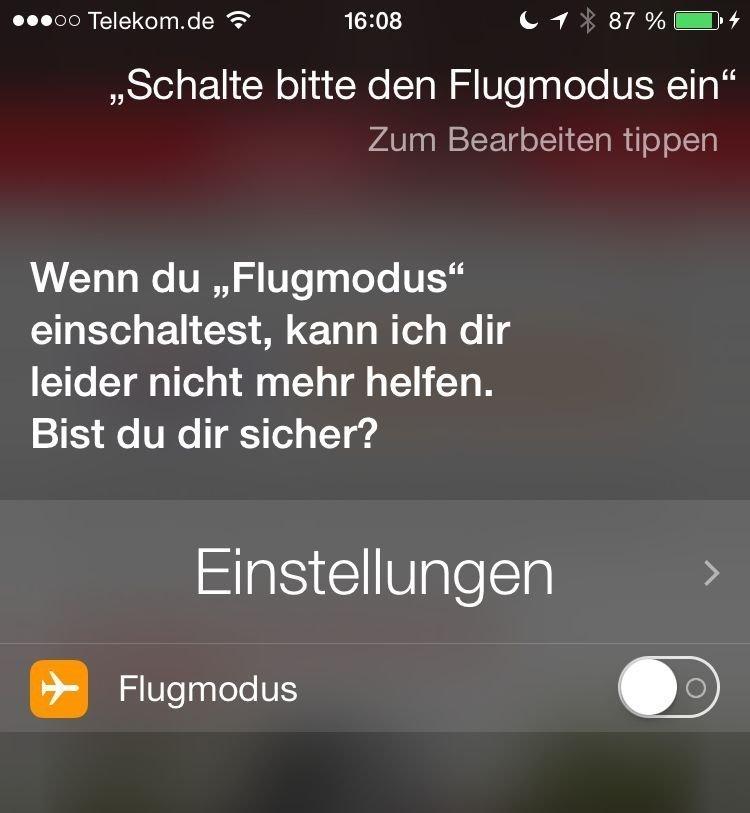 iPhone,Siri,Flugmodus,einschalten 1