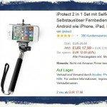 iPhone,iProtect,Selfie,Stange,Handstativ,Bluetooth,Selbstauslöser,Fernbedienung,Shutter 1