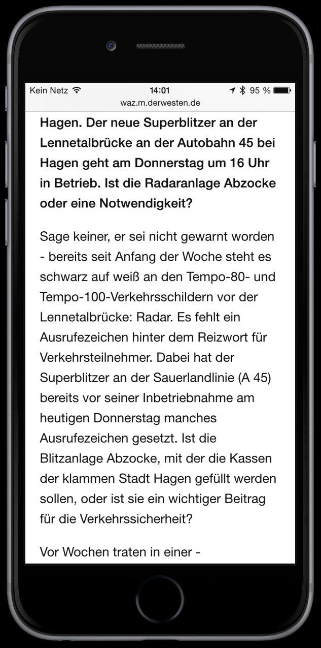 iPhone Safari lesen Reader-Ansicht Web Internet Zeitung Werbung 3