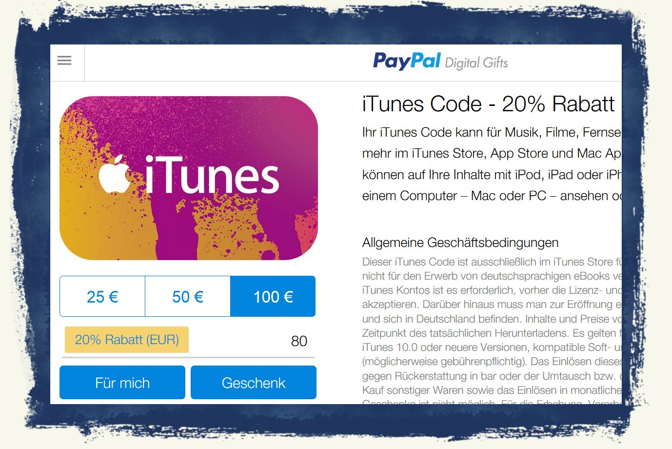 iTunes,Apple,iPhone,iPad,Rabatt,PayPal,20,Prozent 1