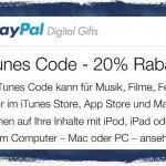 iTunes,Apple,iPhone,iPad,Rabatt,PayPal,20,Prozent BB