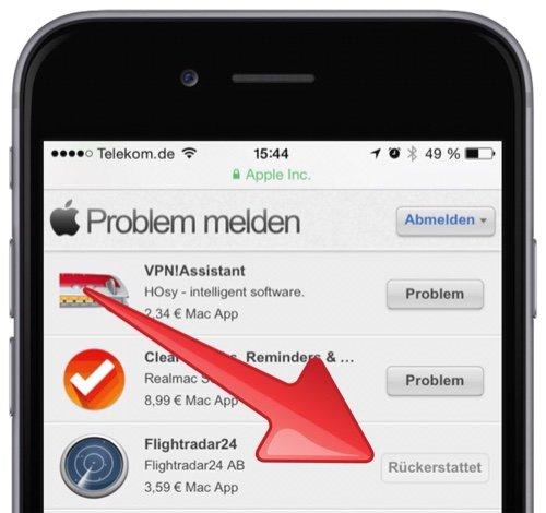 apple apps zur ckgeben geld zur ck bekommen mobil ganz. Black Bedroom Furniture Sets. Home Design Ideas