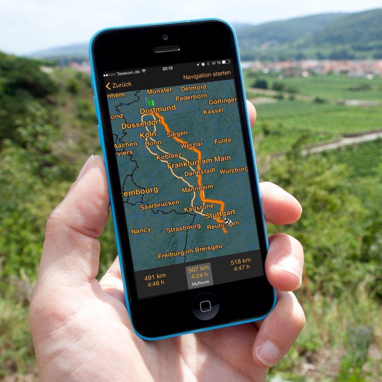 iPhone-Navigation-Route-Google-Maps-Karten-NAVIGON-4.jpg