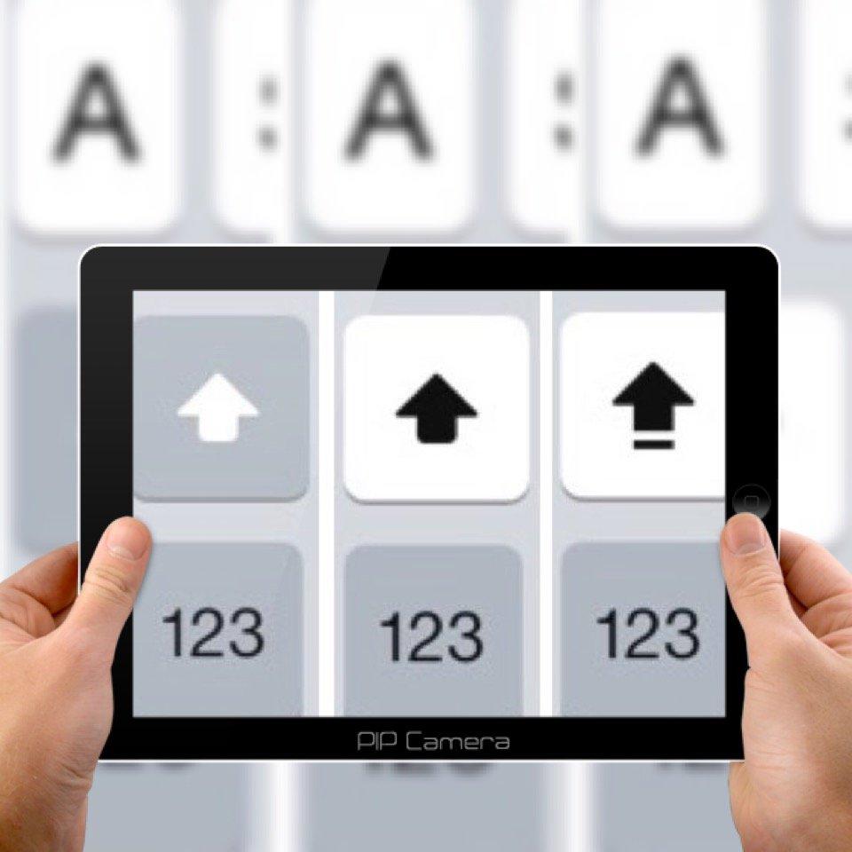 iPhone Tastatur Modus Modi Hochstelltaste Kleinbuchstaben Grossbuchstaben BB