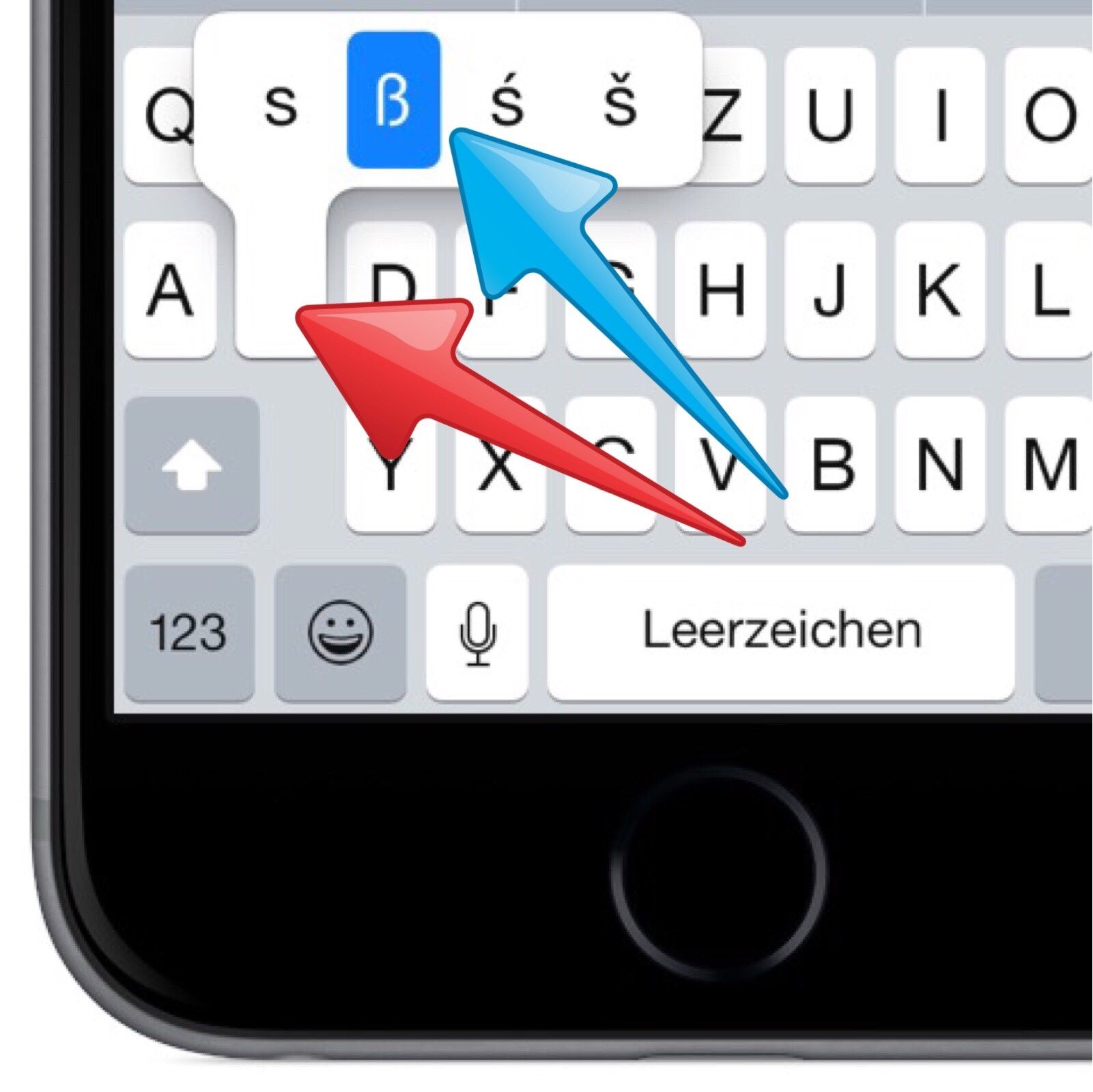 Tastatur Groß Kleinschreibung ändern