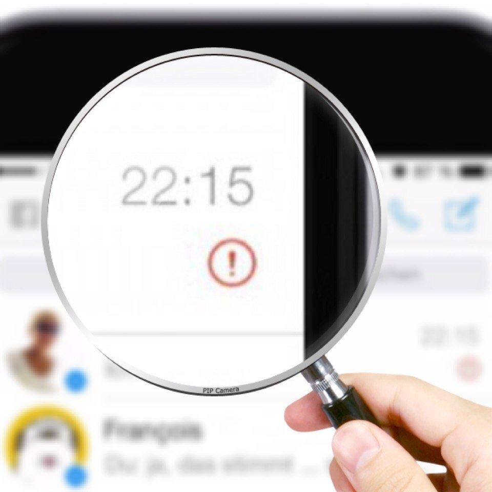Was bedeutet ausrufezeichen bei fotos iphone
