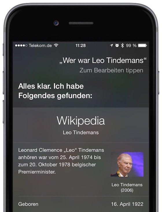 Siri iPhone Kommando ändern Sprachkommando Störgeräusche undeutlich verbessern 5