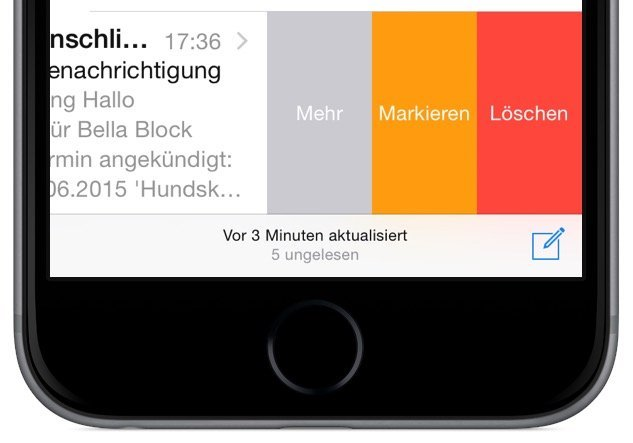 iPhone E-Mail gelöscht Löschung wiederherstellen widerrufen Schütteltrick Löschen 1