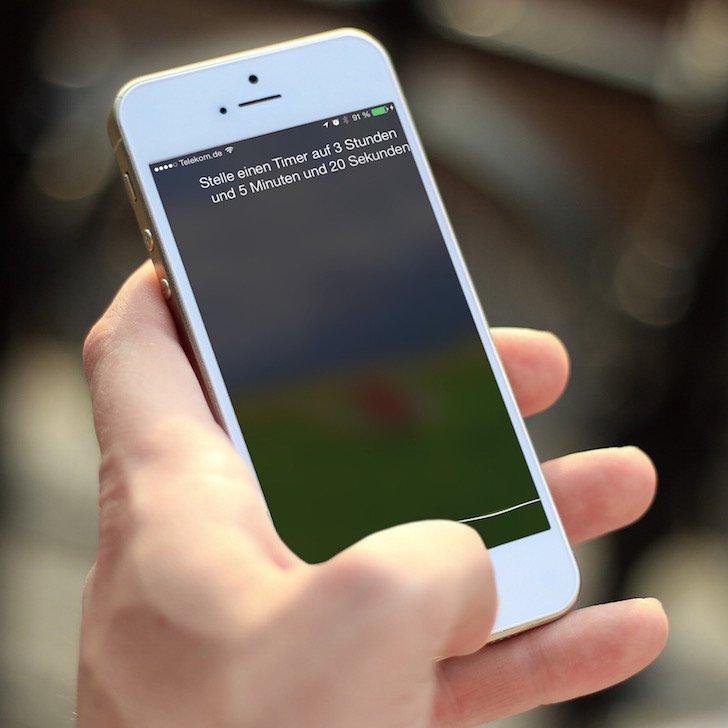 Siri iPhone Kommando Timer Sekunden Minuten Stunden stoppen beenden Countdown 1