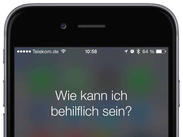 iPhone Anruf Siri Sprachsteuerung Befehl Kommando Homebutton 1