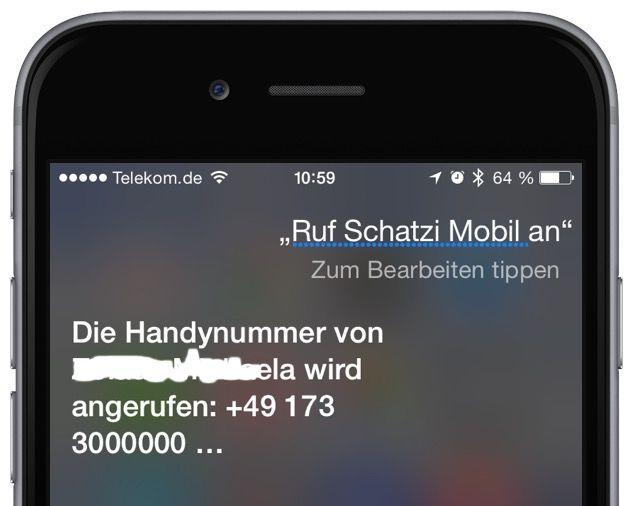 iPhone Anruf Siri Sprachsteuerung Befehl Kommando Homebutton 2