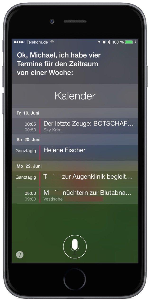 iPhone Siri Kalender Termin 2