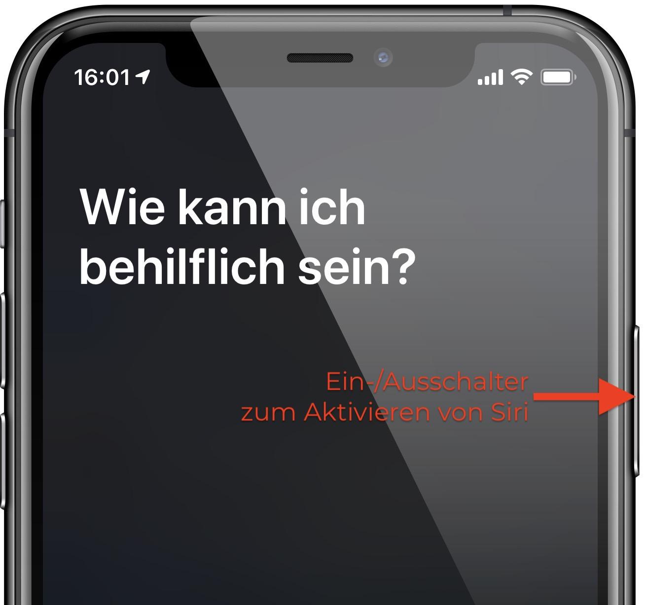 Aktivieren Sie das Sprachassistenz-System am iPhone