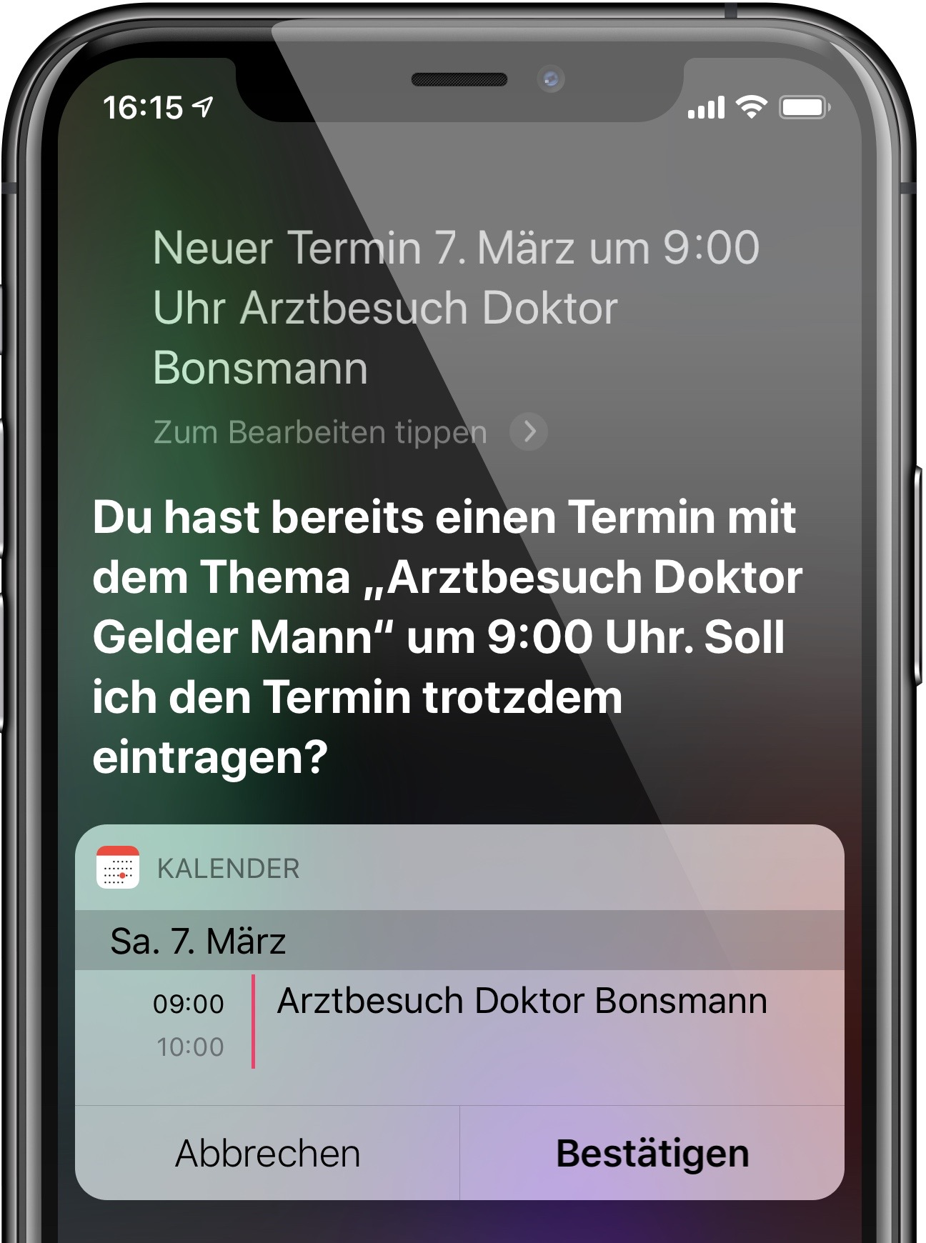 Ihr iPhone zeigt auf Zuruf an, wenn zwei Verabredungen miteinander kollidieren