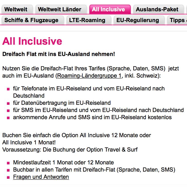 Ausland Mobiltelefon Smartphone Tablet Handy Flatrate Daten  Telefonie SMS  Deutschland