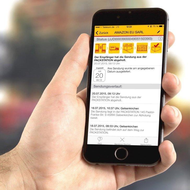 DHL Packstation App Paket Päckchen Schliessfach nochmal öffnen