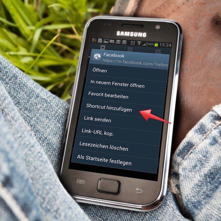 Samsung Android Facebook App langsam Freigabe posten Alternative 7 Shortcut erstellen