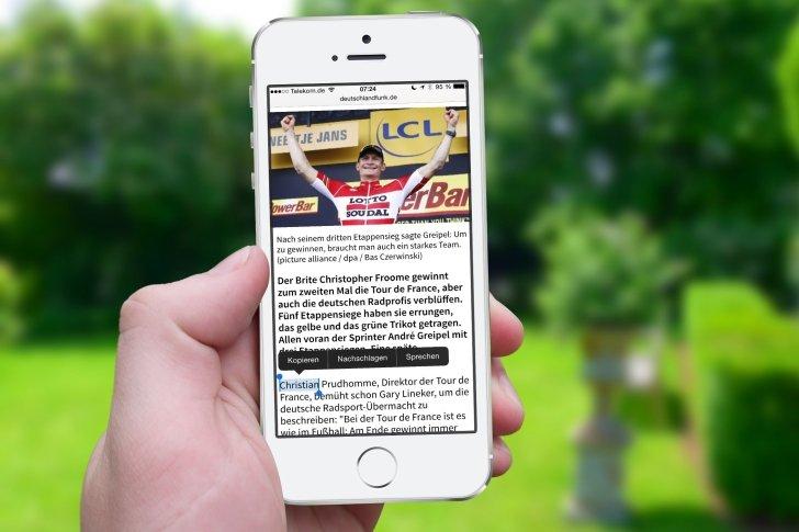 iPhone Text kopieren Zwischenablage Zwischenspeicher Einfügen Einsetzen Mail Nachrichten Safari WhatsApp Link 5