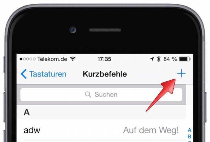 iPhone Wörterbuch ergänzen eigene Begriffe Autokorrektur verbessern 2