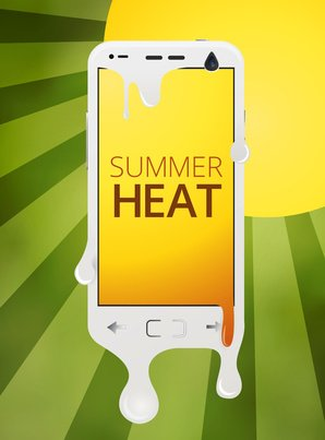 Technology in hot summer day