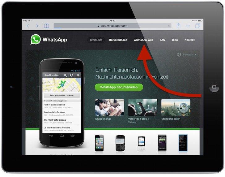 WhatsApp iPad WhatsApp Web 3