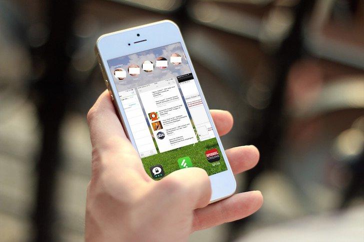 iPhone Arbeitsspeicher Speicher App beenden schließen löschen Homebutton Doppeltipp doppelt tippen 1