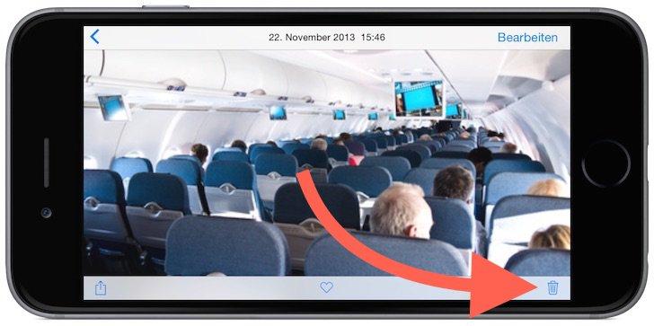iPhone Foto Photo löschen delete Sammelbefehl alle einzeln Trick Momente markieren 1