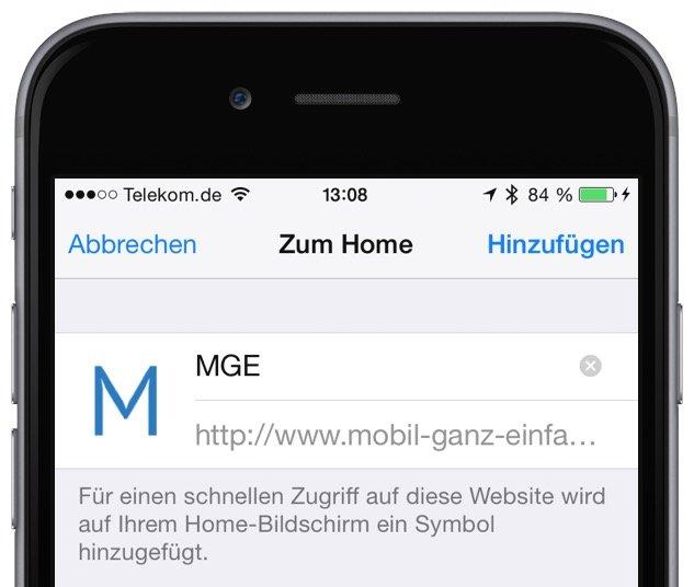 iPhone Website als Icon am Homescreen anzeigen 4