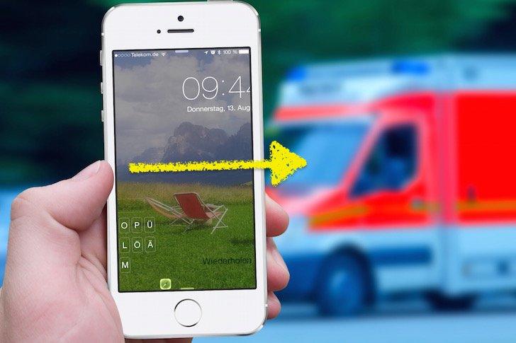 iPhone,Notfall,Opfer,Krankenhaus,Rettungsdienst,Notfallpass,Angehörige,Anruf,Telefon;Blutgruppe,Medikamente Aid 11