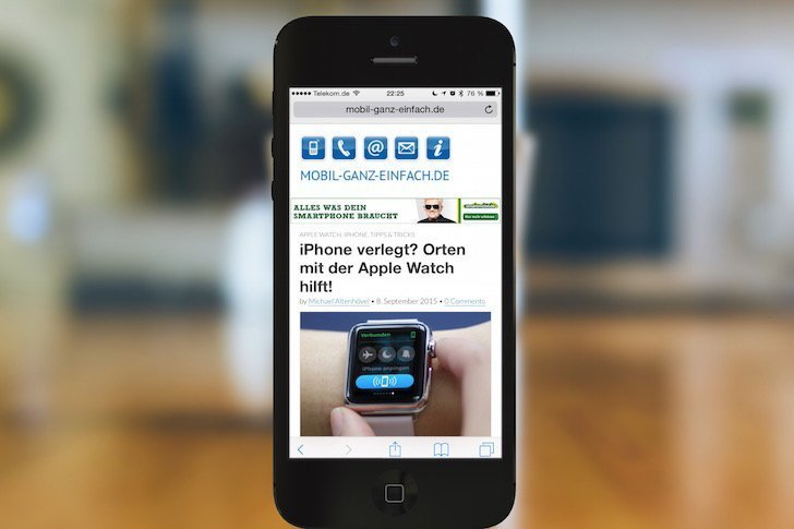 Safari Schnellzugriff auf iPhone-Favoriten ohne Fingertippen 2