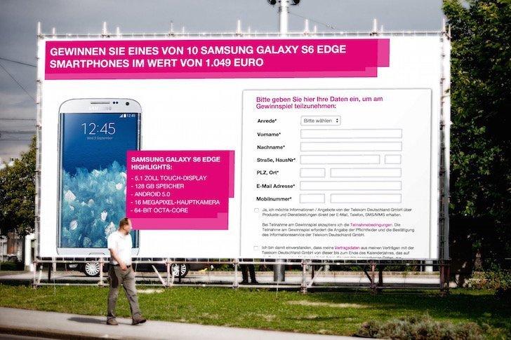 Telekom-Gewinnspiel Samsung Galaxy S6 edge zu gewinnen BB