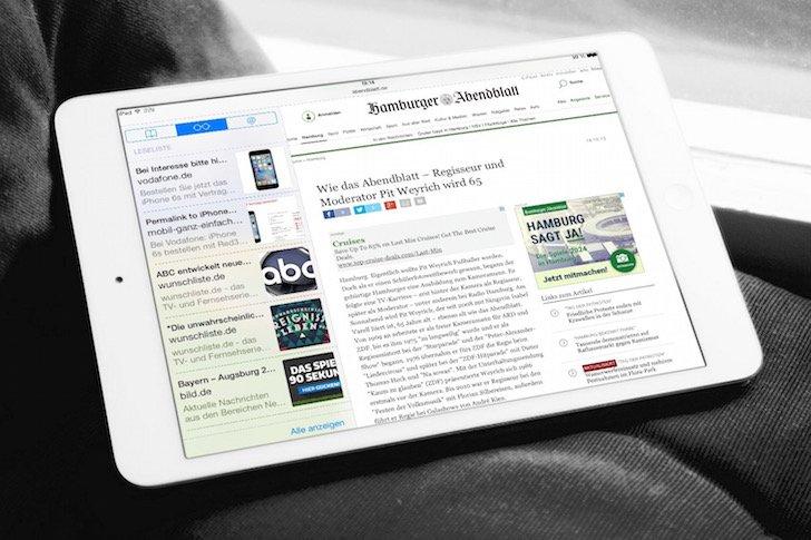 iPad Favoritenleiste ausblenden in Safari 1