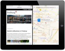 iPad iOS9 iOS 9 Split Screen Split View Geteilter Bildschirm App nebeneinander teilen Multitasking gemeinsam 6