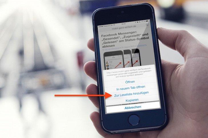 iPhone Leseliste sinnvoll nutzen