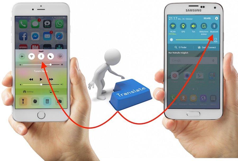 Android Apple finden Funktion Galaxy HTC Huawei iOS iPhone LG Samsung Smartphone Sony suchen Umstieg versteckt Wechsel wiederfinden Xperia Bluetooth einschalten ausschalten