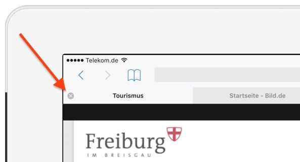 iPad HandOff Tab Neue Registerkarte Öffnen Plus-Zeichen Safari Apple beenden schließen speichern 3