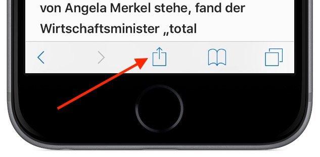 iPhone Reader-Ansicht PDF konvertieren speichern iBooks exportieren 3
