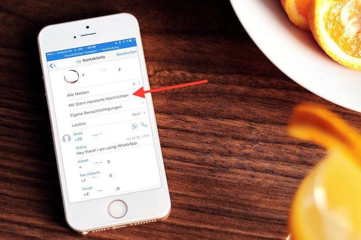 iPhone WhatsApp Favorit Update Funktion hervorheben merken speichern wiederfinden 4