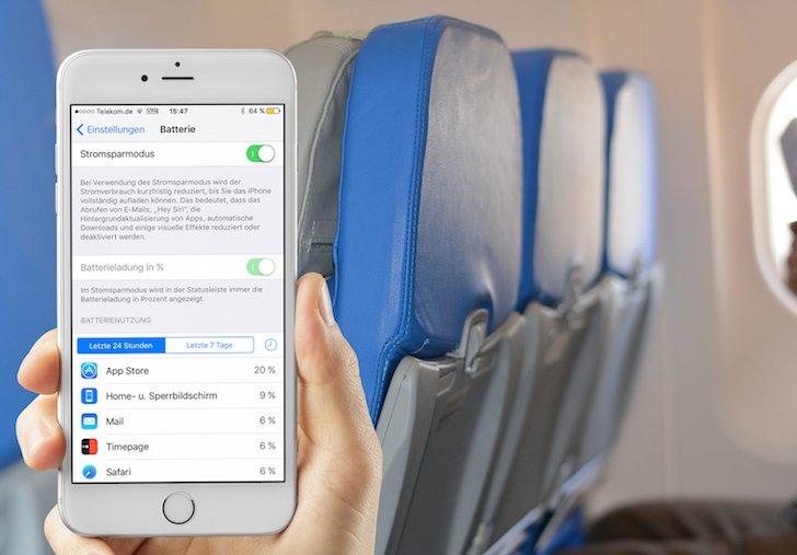 iPhone iOS9 Apple Stromsparmodus Energiesparmodus Batterie Laufzeit länger sparen Strom Energie verlängern Akku 3