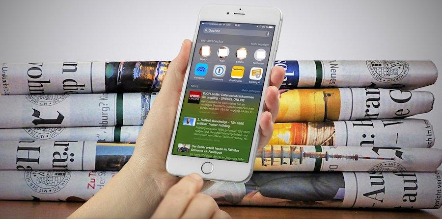 iPhone iOS9 News App-Umschalter Wischgeste Favoriten Apple neu 1
