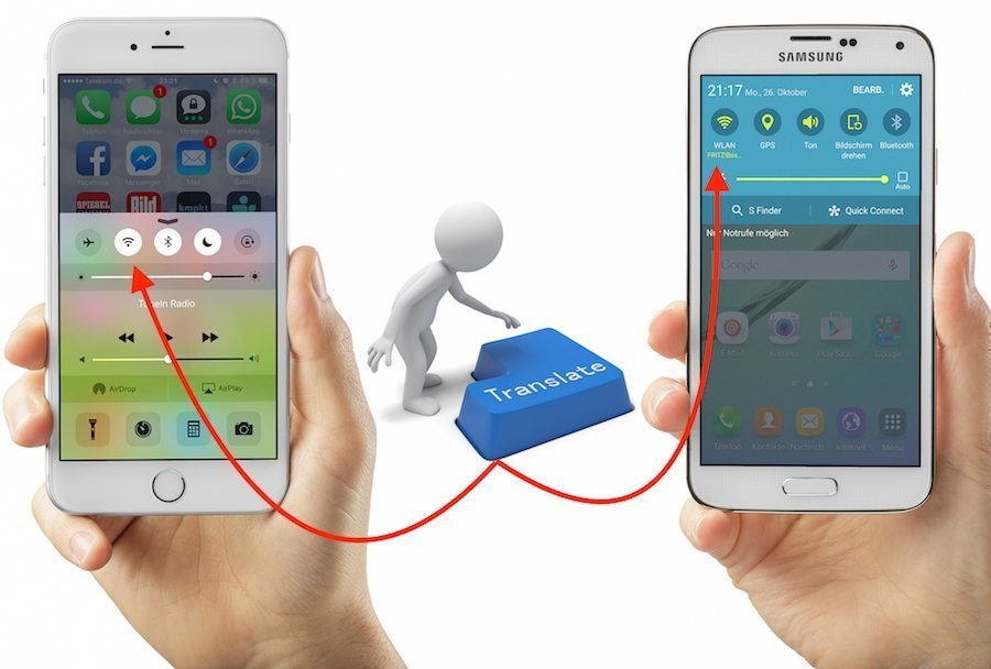 Android Apple finden Funktion Galaxy HTC Huawei iOS iPhone LG Samsung Smartphone Sony suchen Umstieg versteckt Wechsel wiederfinden Xperia WLAN einschalten ausschalten