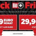 BILD plus BILDplus Black Frifay Sonderangebot 50 Prozent Rabatt Gutschein Nachlass günstiger