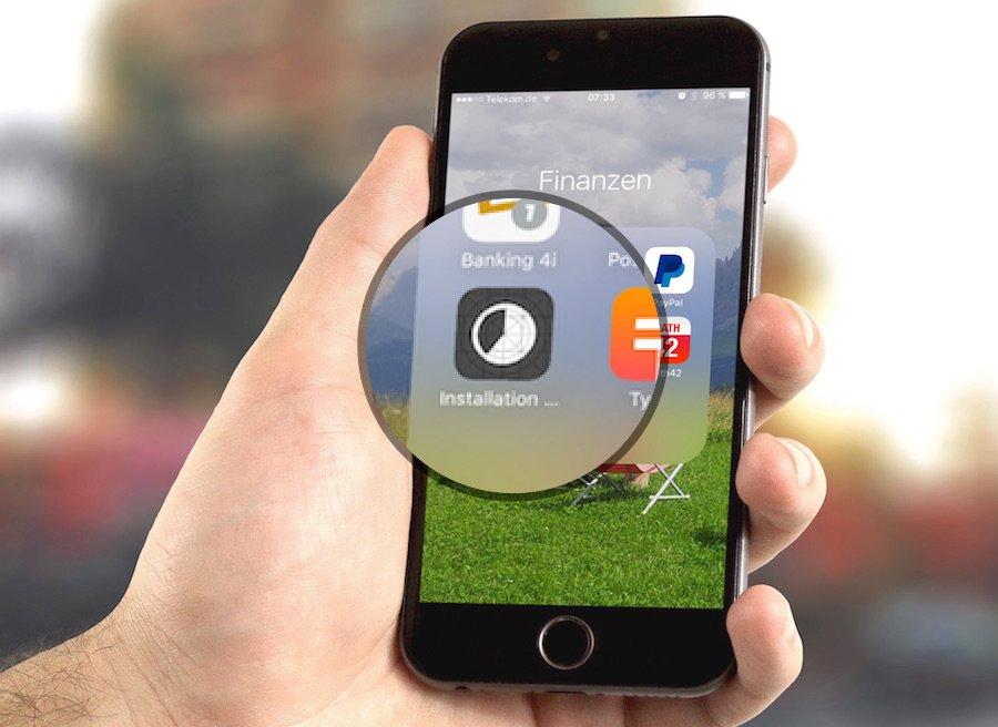 iPhone App Update hängt aufhängen aufgehängt stoppen beenden aufhören unterbrechen Probleme 1