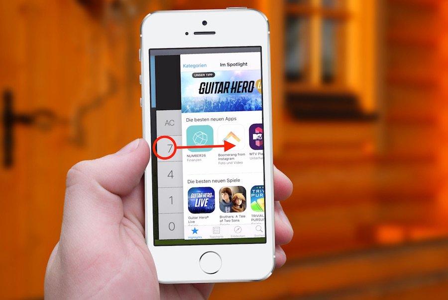 iPhone iOS9 Geheimer 3D Touch wechselt zwischen den zuletzt genutzten Apps 2