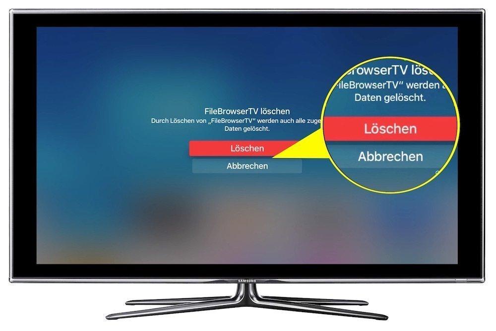 Apple TV 4 App löschen deinstallieren entfernen 2