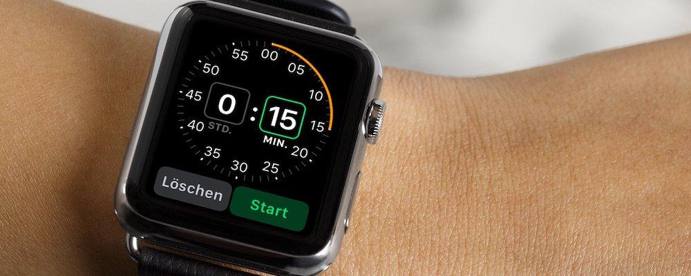 Apple Watch Timer stellen