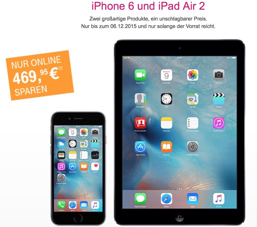 online deal iphone 6 und ipad air 2 kaufen und 529 95 eur. Black Bedroom Furniture Sets. Home Design Ideas