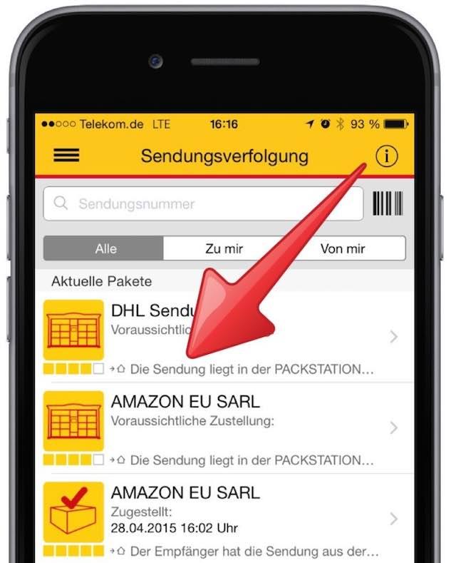 Dhl Packstation Karte.Packstation Mtan Neu Anfordern Mit Smartphone App Mobil Ganz