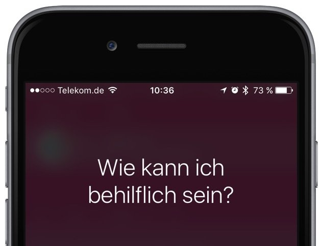 Siri korrigieren am iPhone Spracherkennung