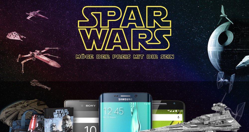 Star Wars-Gewinnspiel Spar Wars Smartphones und mehr zu gewinnen